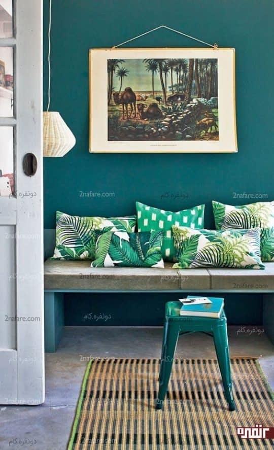 ورودی خانه هایتان را با رنگ سبز زیباتر کنید