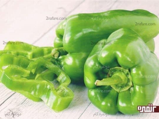 ویتامین C فلفل سبز باعث جذب آهن در بدن میشود