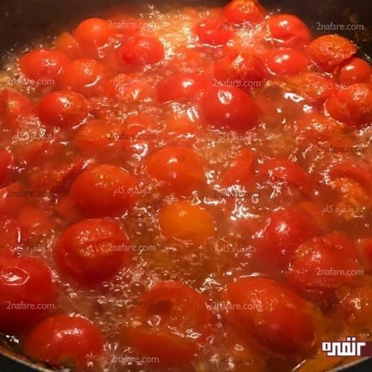 پختن گوجه ها