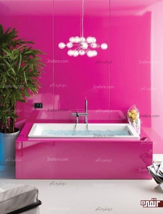 کاربرد رنگ سرخابی در حمام و سرویس بهداشتی