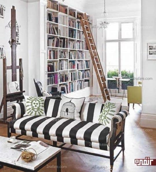 کاناپه سیاه و سفید زیبا