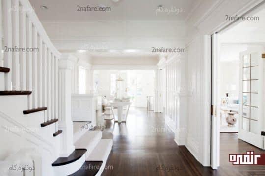 کنتراست زیبای سفید و مشکی در فضای داخلی