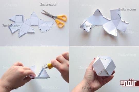 آماده سازی حجم هندسی دوم به عنوان قالب شمع سازی