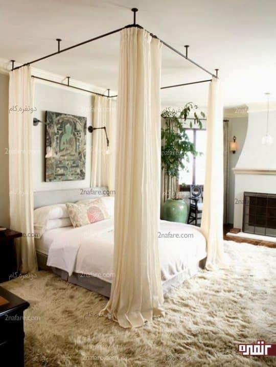 ایجاد حریمی بسیار خصوصی در اطراف تخت خواب