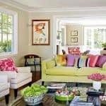 ایده های چیدمان منزل با رنگ های شاد