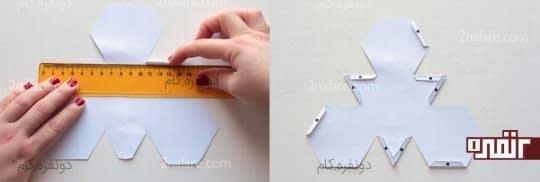 تا کردن لبه های کاغذ