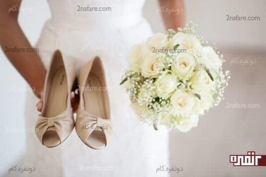 ترکیبی از رز و ژیپسوفیلا برای دسته گل عروس