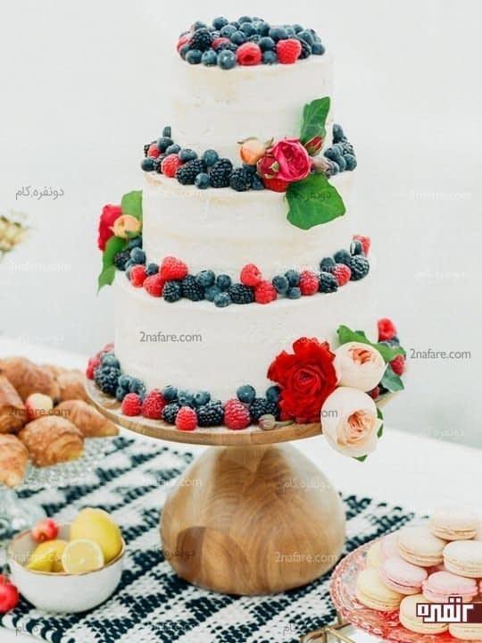 تزیین ساده و زیبا با میوه