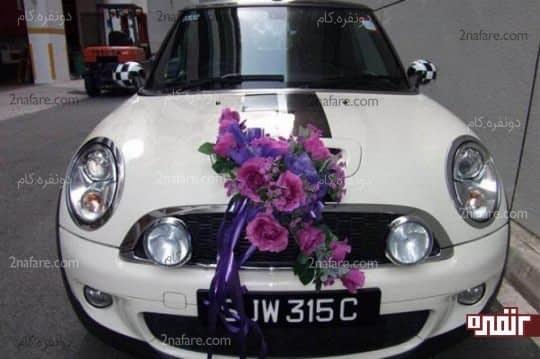 تزیین ماشین عروس با توجه به رنگ مجلس