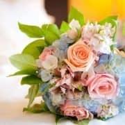 دسته گل رمانتیک با ترکیب هورتانسیا