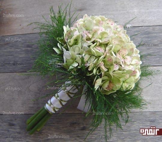 دسته گل زیبا و مدرن از هورتانسیا