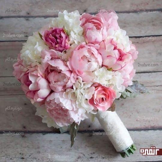 دسته گل عروس هورتانسیا ترکیبی