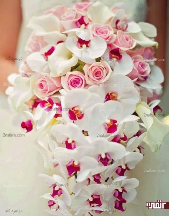 دسته گل مدرن عروس
