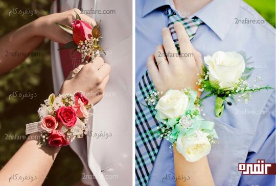 دسته گل مچی با رز سفید و قرمز