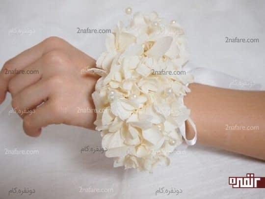 دسته گل مچی با گل هورتانسیا