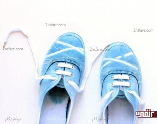 رنگ کردن کفش کتانی سفید در منزل