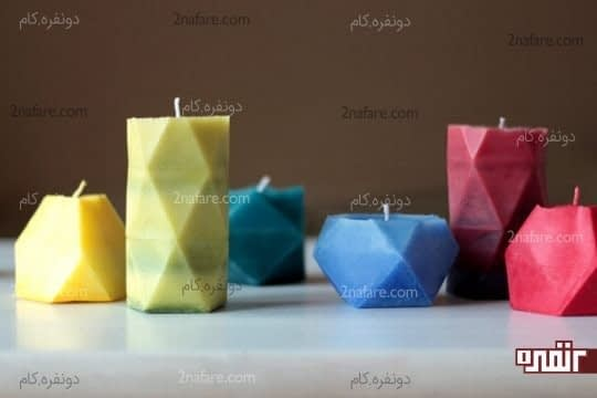 شمع سازی با قالب های کاغذی و اشکال هندسی