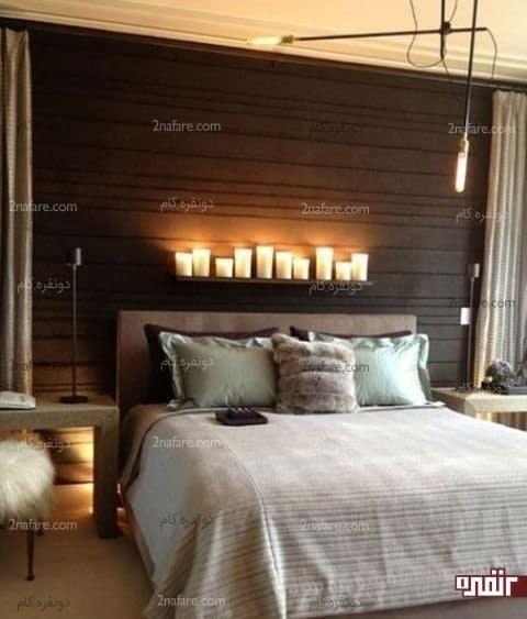 شمع های استوانه ای انتخابی زیبا برای اتاق خوابی رمانتیک