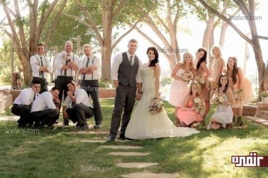 عکس عروس و داماد و ساقدوش ها