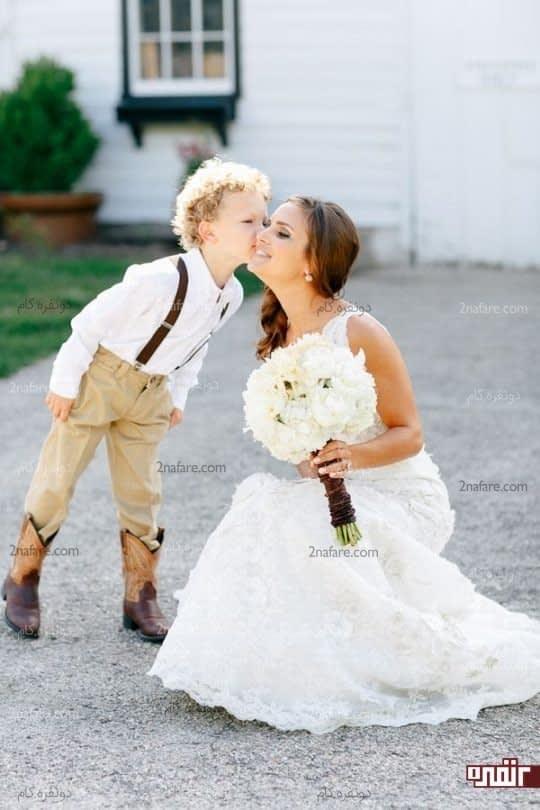 عکس عروس و کودک