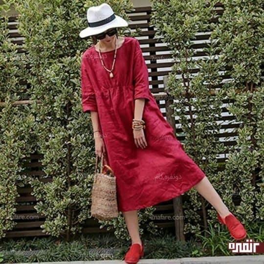 ست لباس سفید و قرمز