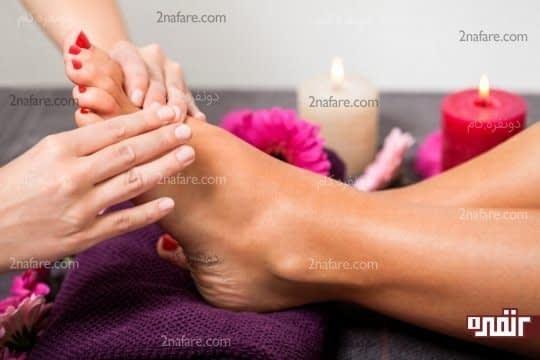 ماساژ پا موثر در گردش خون بهتر و رفع خستگی