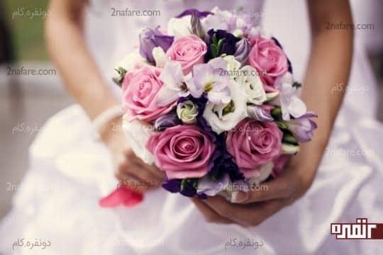 مدلی زیبا با سبکی مدرن برای دسته گل عروس