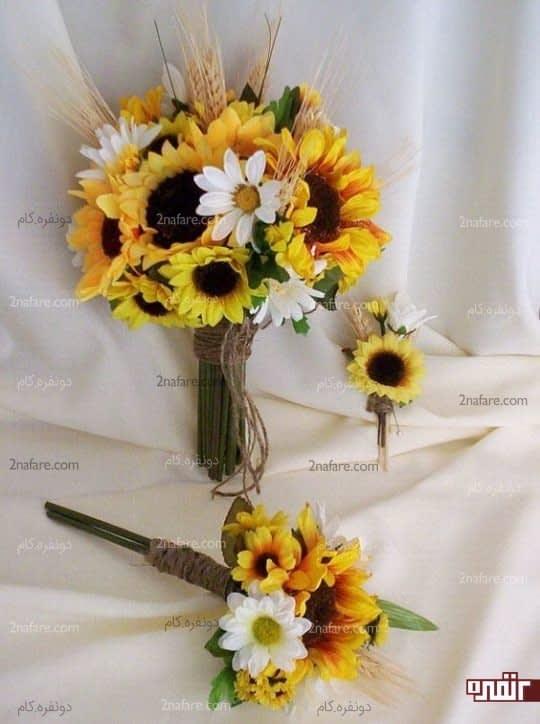 مدل های زیبا از دسته گل آفتابگردان