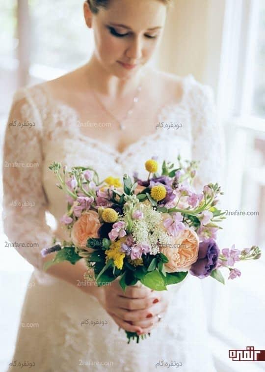 مدل های متنوع و زیبا برای دست گل عروس