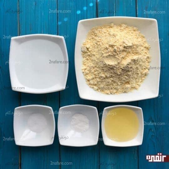 مواد لازم برای تهیه نان ترتیلا