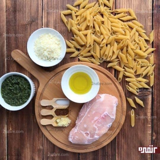 مواد لازم برای تهیه پاستا پستو