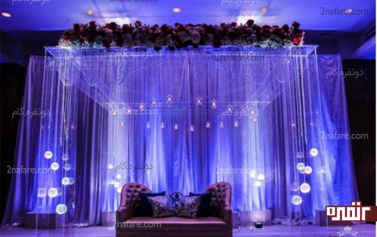 نوع رنگ و طرح دکور عروسی