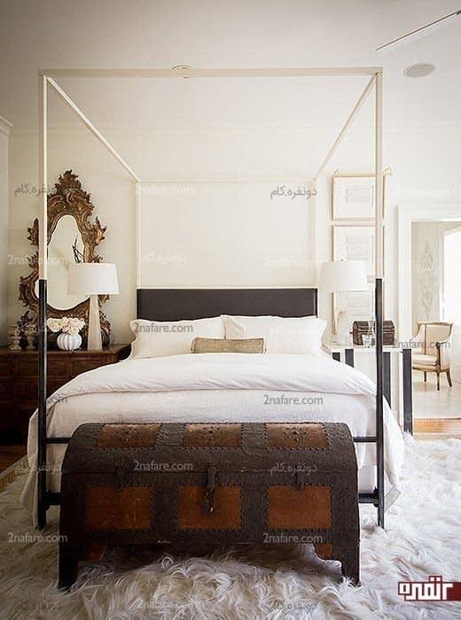 نیمکت زیبا و سنتی برای پای تخت      زیبا