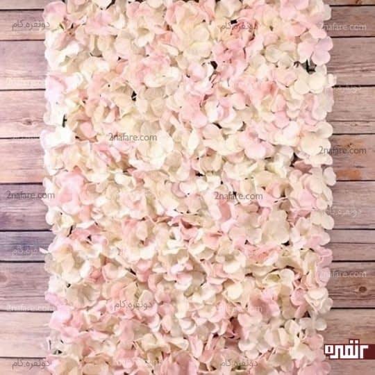 پنل دیواری با گل های ادریسی صورتی
