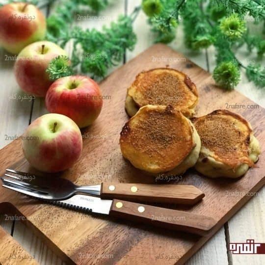 پنکیک با مغز سیب