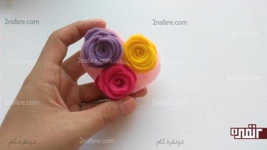 چسباندن گل ها