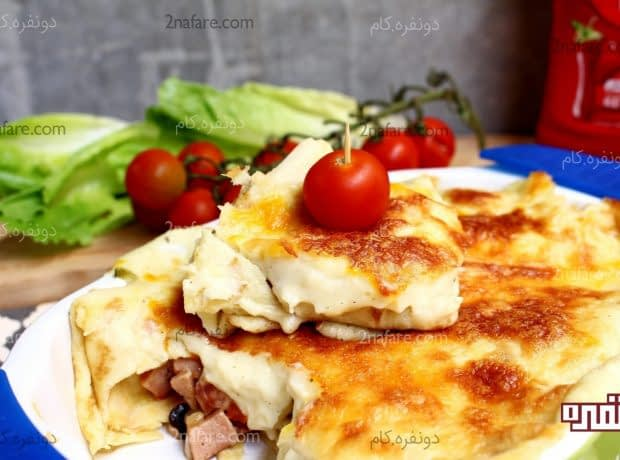 کرپ ژامبون و پنیر 1