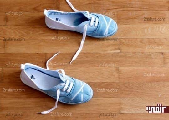 کفش کتانی طرحدار و رنگی