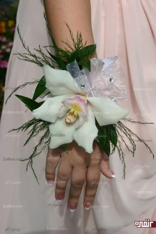 گل ارکیده برای دست گل مچی عروس