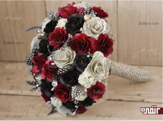 گل رز مصنوعی برای دسته گل عروس