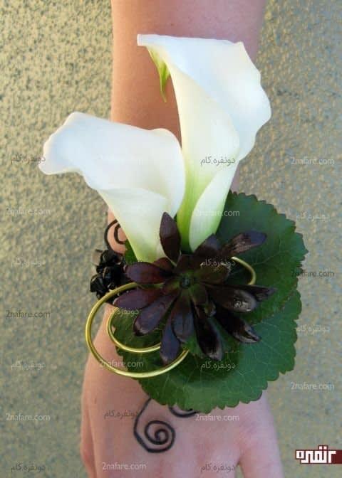 گل شیپوری سفید برای دسته گل مچی