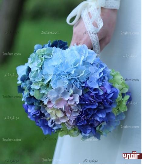 گل هورتانسیا یا ادریسی انتخابی زیبا برای دسته گل عروس