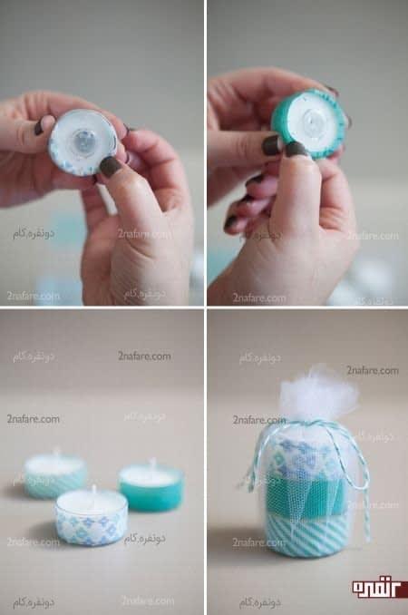 گیفت ساده و زیبای شمعی