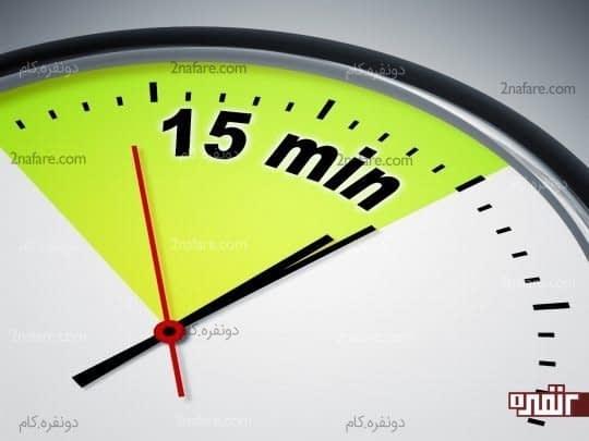 برای تمرکز فقط به 15 دقیقه نیاز داری