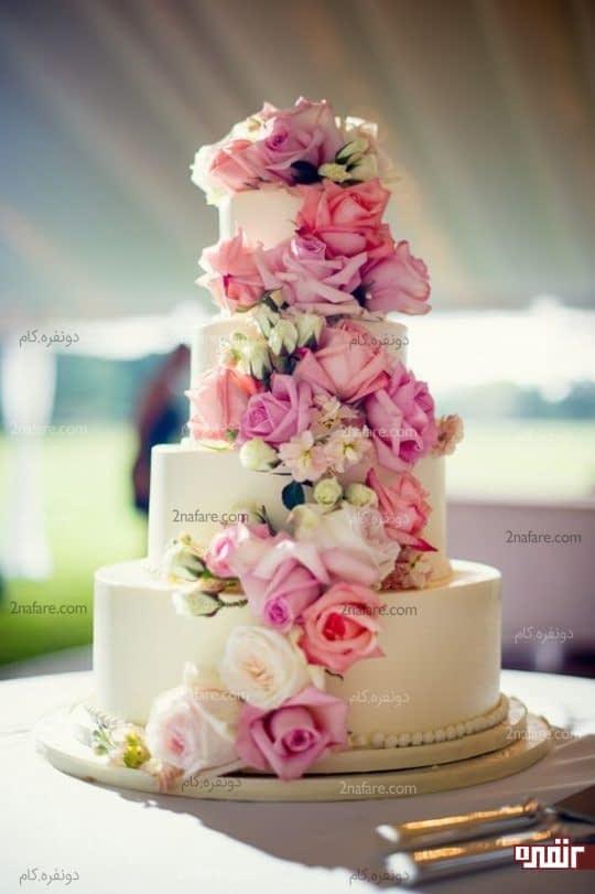 آبشاری از گلهای رز زیبا