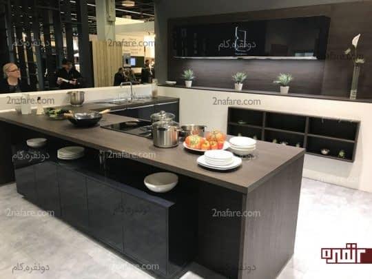 آشپزخانه ای شیک، مدرن و زیبا