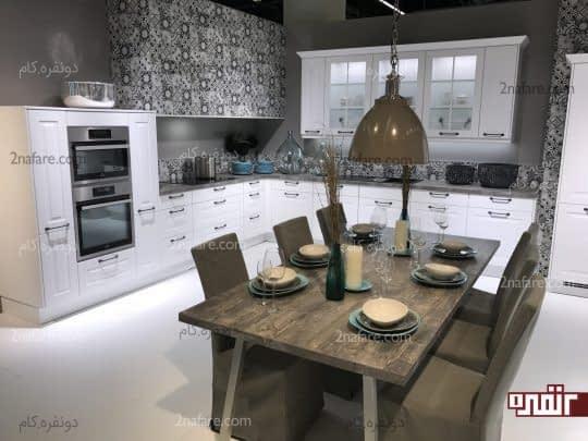 آشپزخانه های ال شکل دارای فضای کافی برای قرار دادن میز غذاخوری