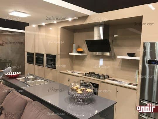 آَشپزخانه های یک دیواره برای خانه های کوچک ایده آل و مناسب است