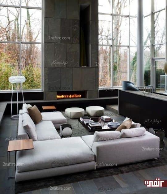 اتاق نشیمن با سبک مدرن