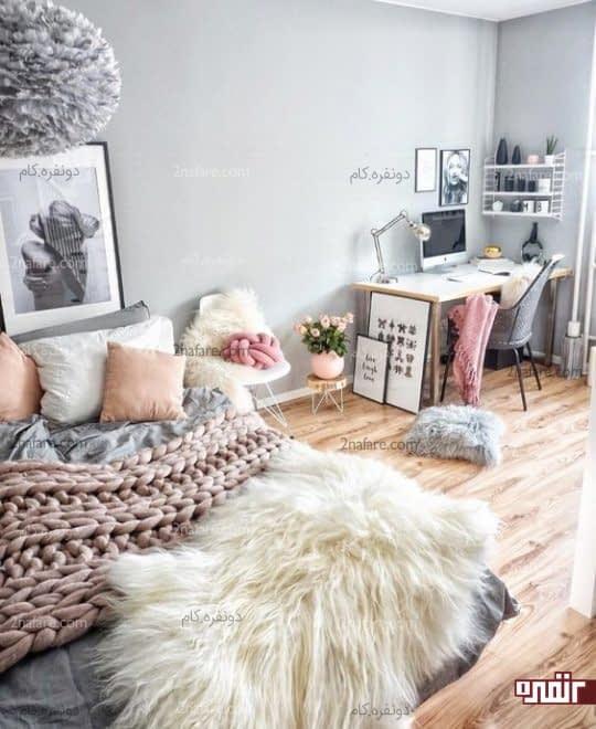 اختصاص دادن گوشه ای از اتاق خواب برای میز کار